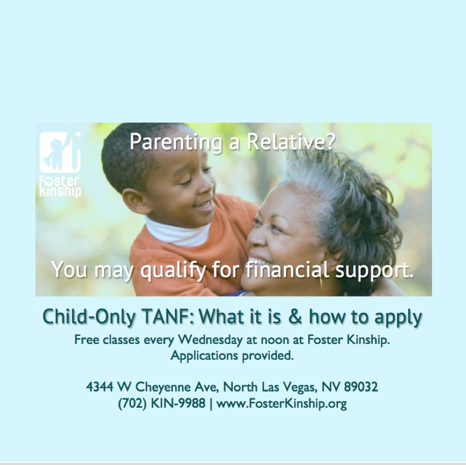 child only TANF TCHD NNRC Application Help